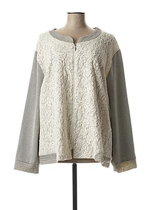 Veste casual gris JEAN DELFIN pour femme