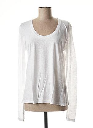 T-shirt manches longues blanc AMERICAN VINTAGE pour femme