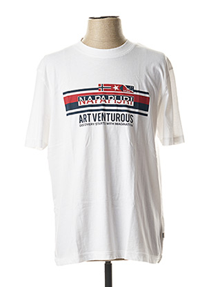 T-shirt manches courtes blanc NAPAPIJRI pour homme