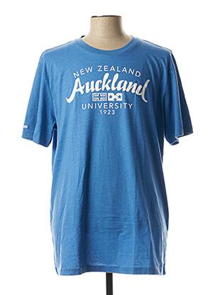T-shirt manches courtes bleu NEW ZEALAND AUCKLAND pour homme