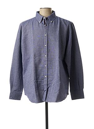 Chemise manches longues bleu GF MAN pour homme