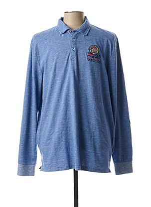 Polo manches longues bleu NEW ZEALAND AUCKLAND pour homme