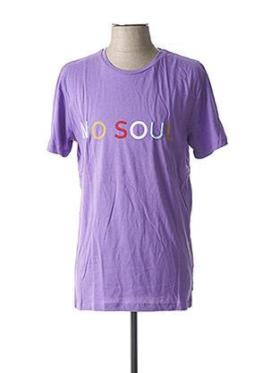 T-shirt manches courtes violet JACK & JONES pour homme