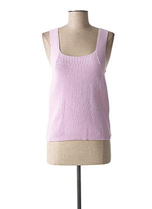 Pull col carré violet FRNCH pour femme