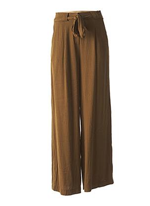 Pantalon chic marron FRNCH pour femme