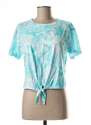 T-shirt manches courtes bleu BANANA MOON pour femme