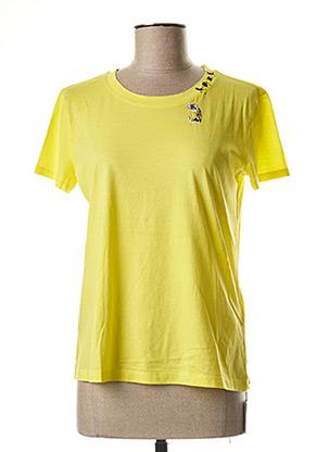 T-shirt manches courtes jaune MARC CAIN pour femme