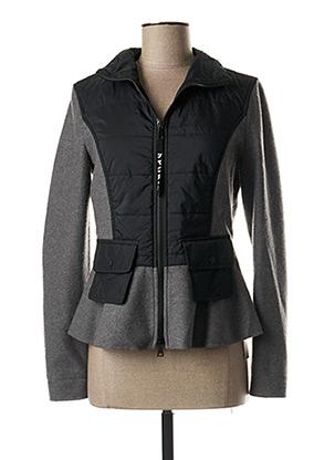 Manteau court gris MARC CAIN pour femme