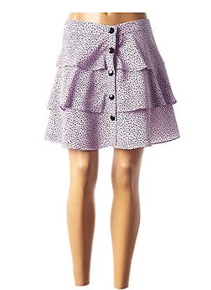 Jupe courte violet CLP pour femme