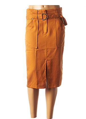 Jupe mi-longue orange JUS D'ORANGE pour femme
