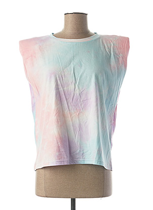 T-shirt manches courtes bleu ONLY pour femme