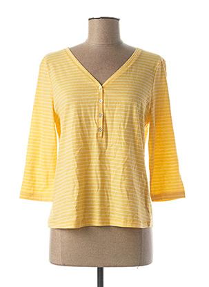 T-shirt manches longues jaune ONLY pour femme