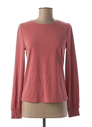 T-shirt manches longues rose ONLY pour femme