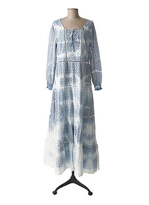 Robe longue bleu EXETERA pour femme