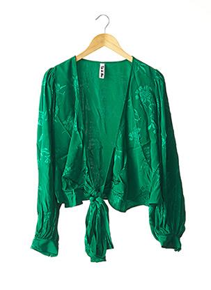Blouse manches longues vert RAT & BOA pour femme