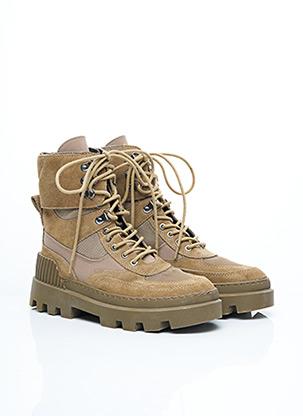 Bottines/Boots beige ZARA pour femme