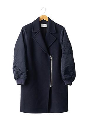 Manteau long bleu SANDRO pour femme