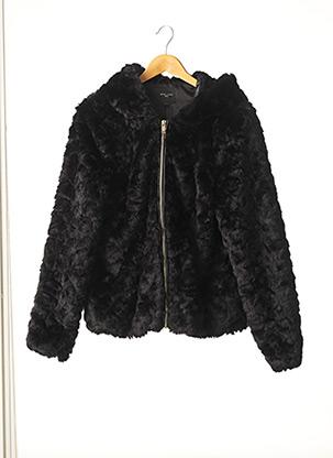 Manteau court noir NEW LOOK pour femme