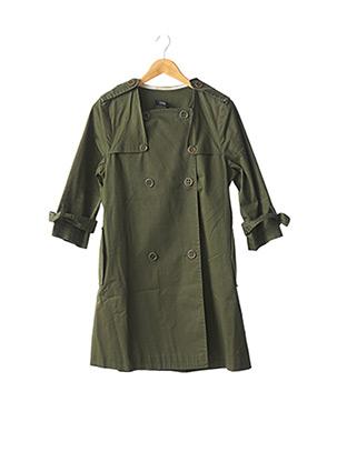 Imperméable/Trench vert COTELAC pour femme