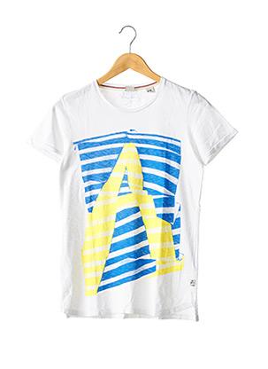 T-shirt manches courtes blanc SCOTCH SHRUNK pour fille
