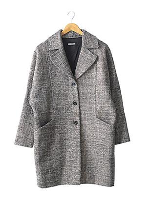 Manteau long marron MAGDALENA pour femme