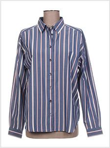chemise bleue a rayures