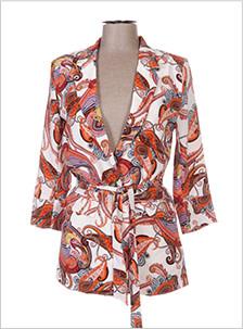 veste avec motifs oranges