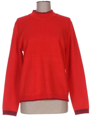 pull Rouge col cheminee