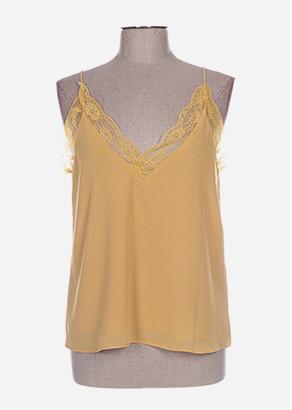 top lingerie jaune